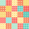 Vector clipart: Seamless patchwork pattern 2