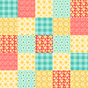 Seamless patchwork pattern | Stock Vector Graphics