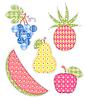 Vektor Cliparts: Anwendung Früchte Set