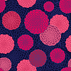 Vector clipart: Round flowers seamless pattern