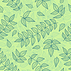 Vektor Cliparts: Grüne Blätter nahtlose Muster