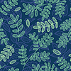 Vector clipart: Blue and green leaves seamless pattern