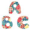 Vektor Cliparts: Quilt Alphabet