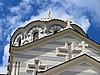 세 바스 토폴에있는 세인트 블라디미르 성당의 돔 | Stock Foto