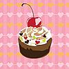 Векторный клипарт: торт н день Св. Валентина