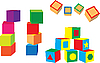 Vector clipart: toy blocks