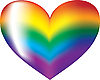 colorful rainbow heart symbol