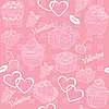 Vector clipart: Valentines Day Background