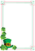 Vector clipart: Frame for St Patrick Day