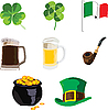 Vector clipart: symbols of St. Patrick day