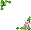 Vector clipart: frame of clover