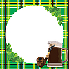Frame with clover and beer | Stock Vector Graphics