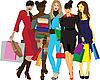 women with shopping