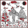 Vector clipart: Russian folklore image