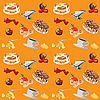 Vector clipart: background with pancakes