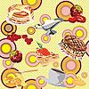 Vector clipart: pancake breakfast background