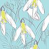 Vektor Cliparts: Floral nahtlose Hintergrund