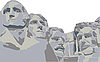 Vector clipart: four presidents Mount Rushmore