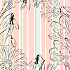 Vector clipart: floral background with spring flowers