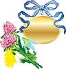 Banner als Anhänger und Blumenstrauß