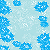 Vector clipart: floral blue background