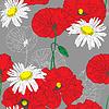 Vektor Cliparts: Floral nahtlose backgroundfloral