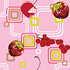 Vector clipart: seamless background with berries