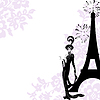 Vector clipart: Frame fashion, beauty, Paris
