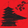 Vector clipart: Japan has red background