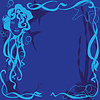 Векторный клипарт: синий фон морской жизни