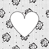 heart on background of floral lace