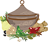 Vector clipart: meal and spices
