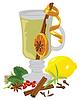 Векторный клипарт: Чай по-прежнему жизнь и специи