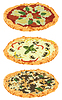 Vector clipart: a set of different pizzas