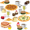Vector clipart: Seamless background of fast food