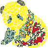 Vector clipart: Panda in Chinese ornament