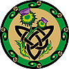 Vector clipart: celtic knot with thistle