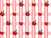 Vector clipart: background of strawberries and hearts