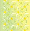 Векторный клипарт: светло-зеленый цветочный фон