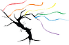 Rainbow tree | Stock Vector Graphics