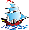 Vector clipart: ship with an eye