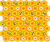Background with bees and honeycomb | Stock Vector Graphics