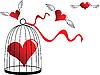 Векторный клипарт: Сердце в клетке