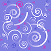 Vector clipart: purple background with swirls