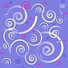 Векторный клипарт: фиолетовый фон с завитками