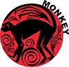 Векторный клипарт: Китайский гороскоп обезьяна