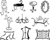 Vector clipart: set of furniture