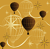 Vector clipart: seamless background journey in a balloon