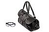 Photo 300 DPI: Black handbag and glasses