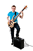 Guitarist with electro guitar | Stock Foto